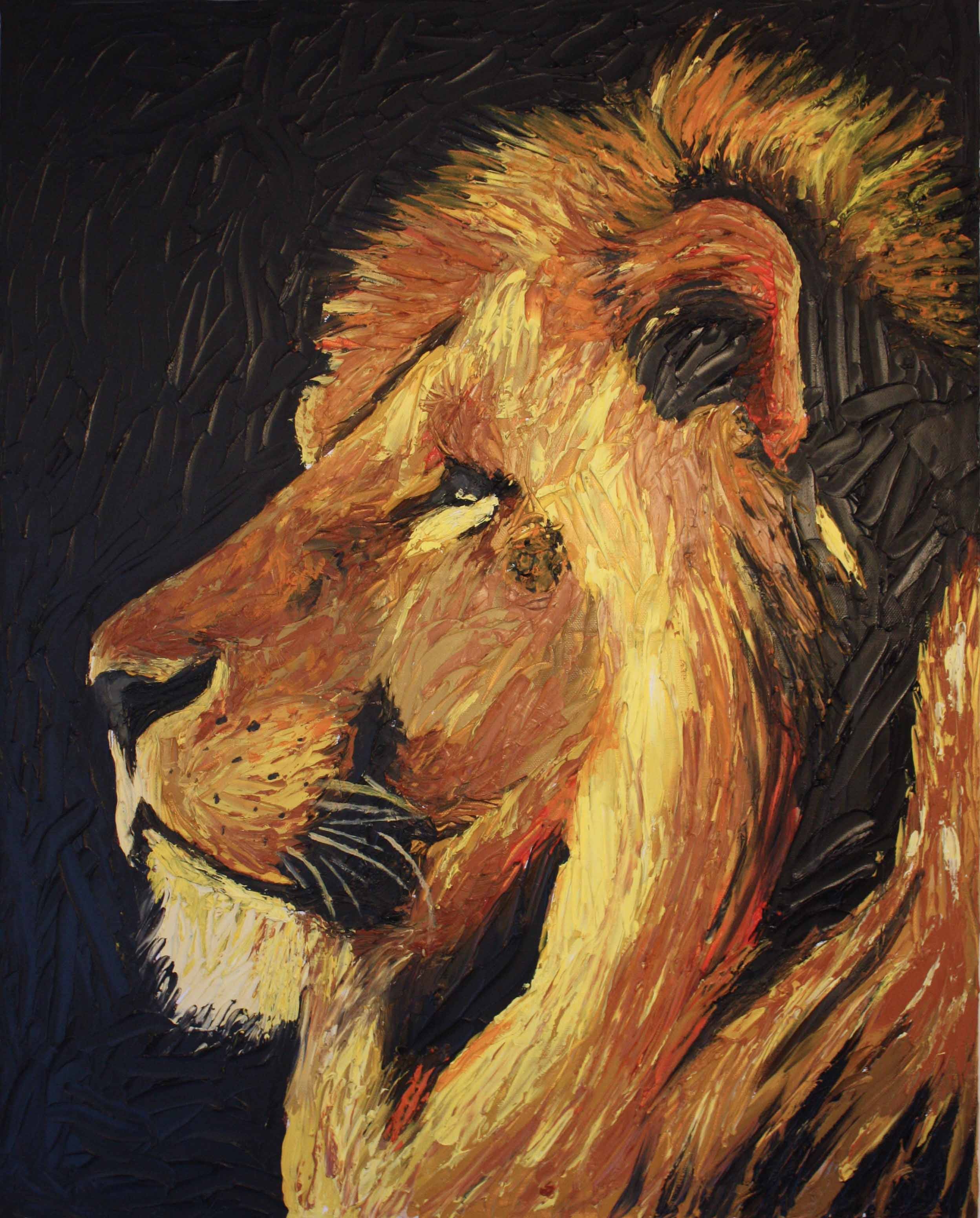 Lion Painting Lion-painting_light.jpg Colorful Lion Painting Zena Grey 2013
